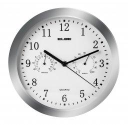 Reloj de pared con termómetro e higrómetro ELBE RP-3005-P
